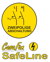 CasaFan SafeLine - Allpolige Abschaltung