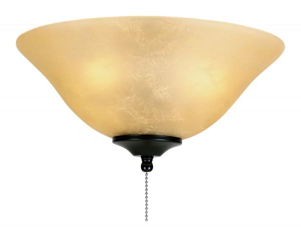 Leuchtenglas Schale Amber