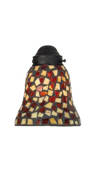 Leuchtenglas Tulpe Amber/brown mosaic
