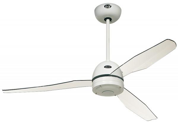 Deckenventilator Libelle WE ohne Steuerung - Lack weiß - 4 Flügel Acrylglas klar - Ø 132 cm