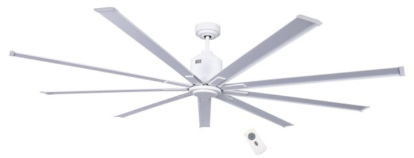CasaFan Deckenventilator Big Smooth Eco WE - Weiß - 9 Flügel Weiß - mit Fernbedienung - energiesparend
