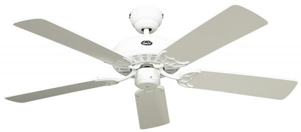 CasaFan Deckenventilator CLASSIC ROYAL 132 WE - Gehäuse Lack weiß - 5 Flügel Lack weiß/Lack lichtgrau - Ø 132 cm
