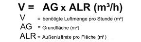 flaechen_luftmengenermittlung