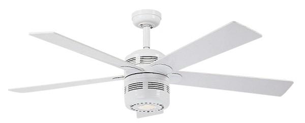 CasaFan Deckenventilator ALU WE - Weiß- 5 Flügel Weiß - mit Licht