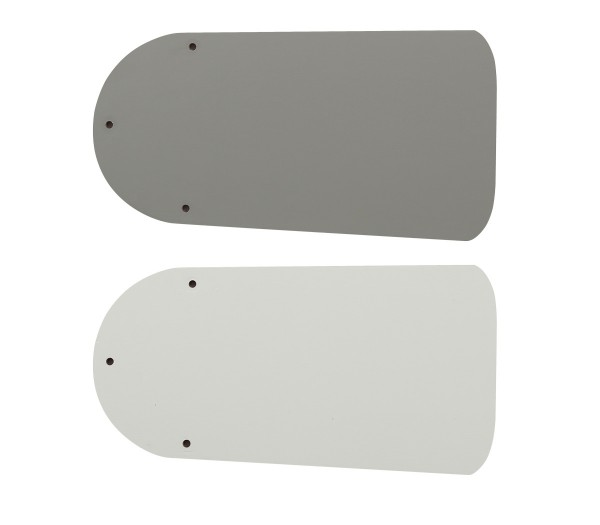 Flügelsatz FLAT 75-III Lack weiß/lichtgrau