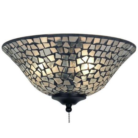 Leuchtenglas Schale Clear/ Frosted Mosaic