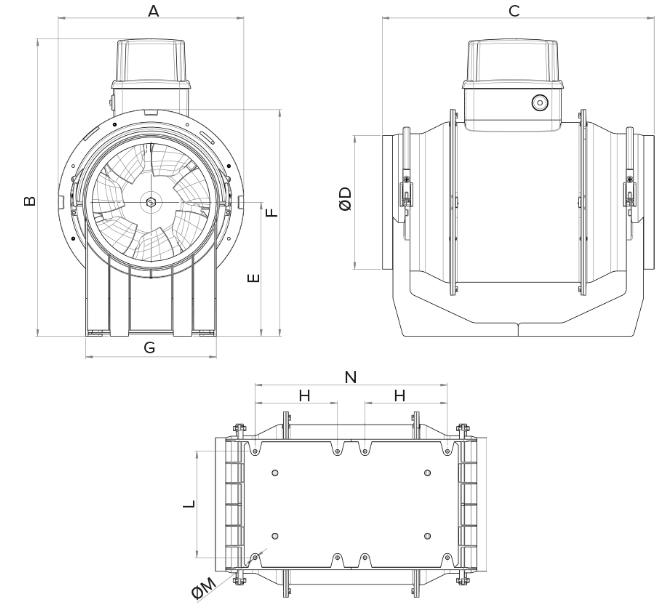 Abmessungen-LINEO-250-ES
